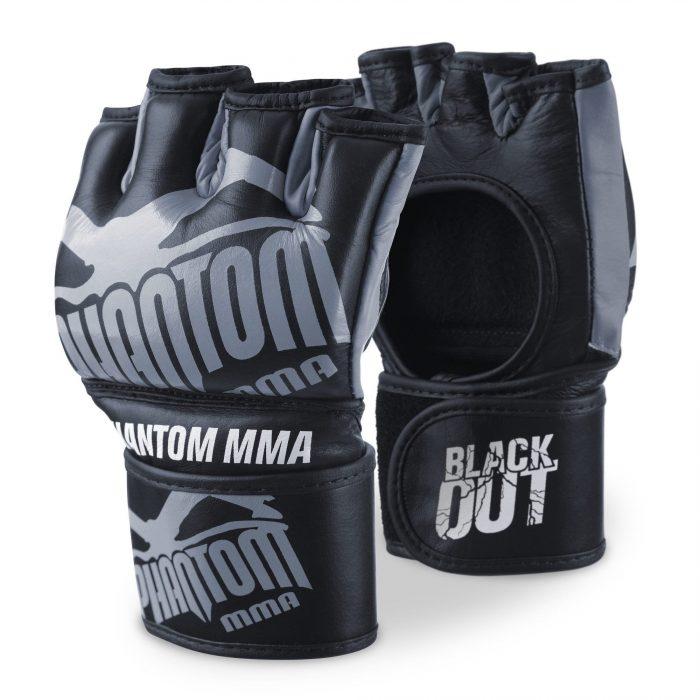 MMA gloves Phantom Athletics Blackout gray-black