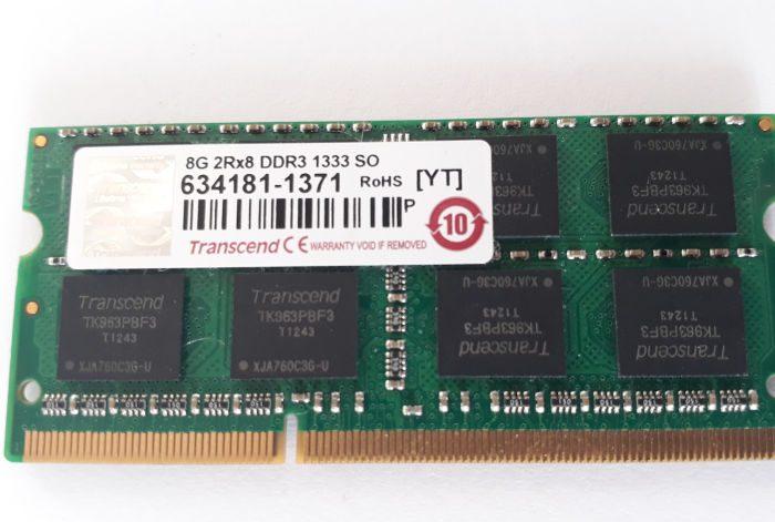 Memory Transcend DDR3 8GB 1333MHz